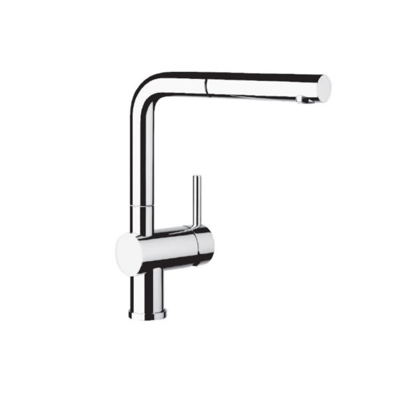 Sink mixer w/ extractable spout