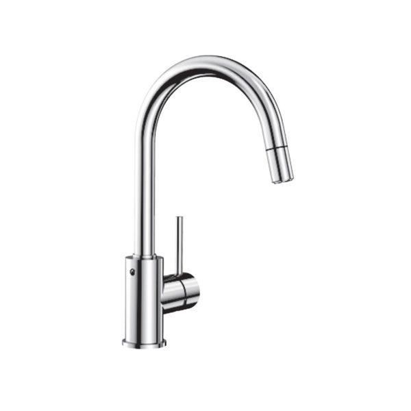 Sink mixer w/ high spout