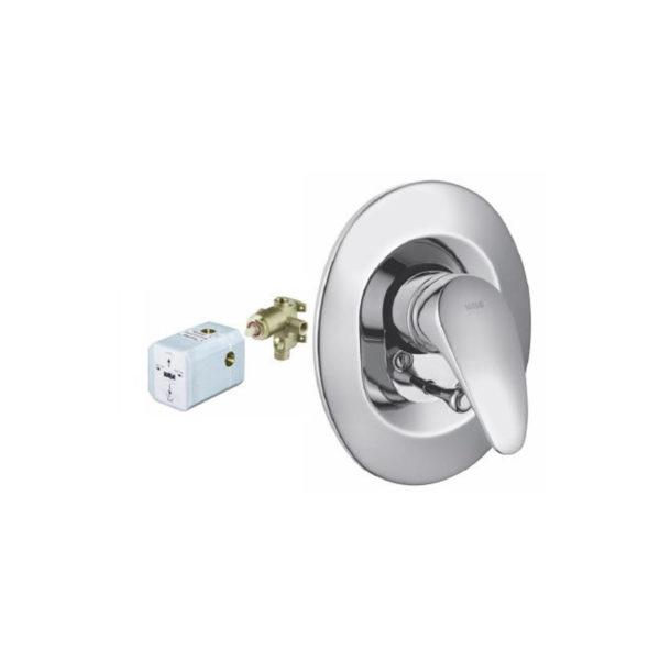 Concealed bath/shower mixer