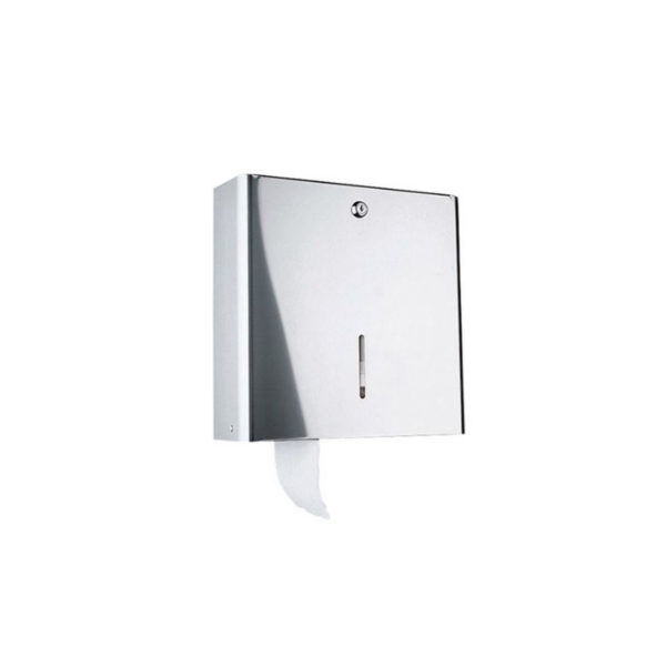 Wall mounted paper holder w/ key