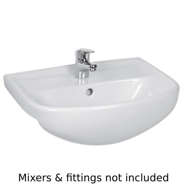 Washbasin - semi-recessed