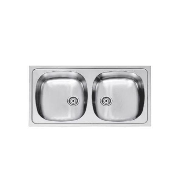 Inset - sink 2 bowl